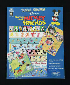 Hot Off The Press Paper Pizazz Disney's Playtime with Mickey & Friends~12 Sheets