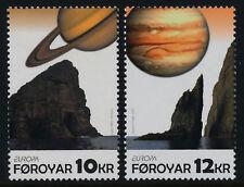 Faroe Islands 511-2 MNH EUROPA, Saturn, Jupiter