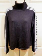 Fubu The Collection Woman's Black SPORTS TURTLENECK  SWEATER 3X FITS LIKE A XL