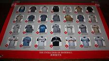 Vintage The Evolution of Baseball Jerseys Kellogg 38x25 Poster