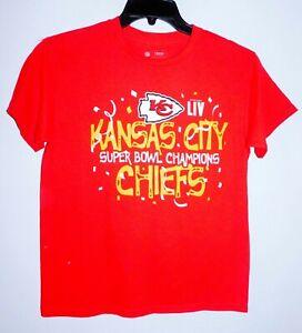 "Kansas City Chiefs Youth Medium ""Super Bowl Champs"" T-Shirt"
