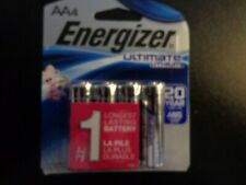 Energizer Ultimate Lithium AA (Double A) battery - Pack of 4