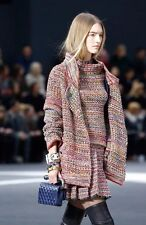 CHANEL BRAND NEW 13K MULTICOLOR WOOL KNIT CARDIGAN AND SWEATER TWINSET