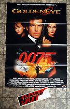 JAMES BOND 007 * GOLDENEYE * A1-VIDEO-POSTER + STICKER ´96 Ger. 1-Sheet BROSNAN