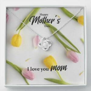 I Love You Mom Necklace Engagement Anniversary Gift for Her Birthday