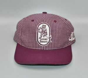 Hershey Bears IHL Vintage 90's Logo Athletic Grid Strapback Cap Hat