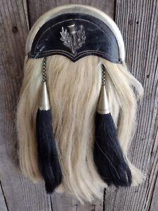 "VINTAGE Scottish Horse Hair Sporran  17"""