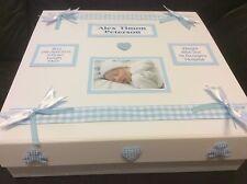 Photo Personalised New Baby Boy Keepsake Memory Box christening gift