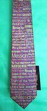 Tie, NWT Free Man Apparel Wine Red Christian NAMES OF JESUS Lamb GOD Life Truth