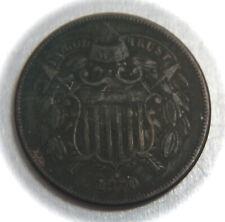 1870 Two Cent Copper Piece - 2C  - No Reserve!