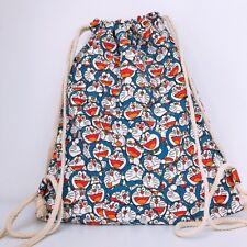 DORAEMON GATO dibujos animados con cordón mochila bolsas de compras fácil Bolsón Bolso Bolso Escolar
