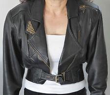 Les Voyous de Tramway Women's Leather Jacket size 12