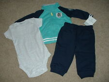 Carters Baby Boy Clothes Awesome Daddy 3pc Outfit Set Size 12 Months 12M NWT NEW