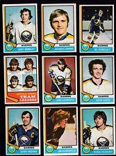 1974 O-Pee-Chee Team LOT of 17 Buffalo SABRES EX/MT OPC Gil ROBERT MARTIN LUCE
