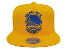 Golden State Warriors Snapback Mitchell & Ness Bridge Logo Yellow Hat Cap