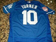 New!! Justin Turner Los Angeles Dodgers Spring Training Blue Baseball Jersey XXL