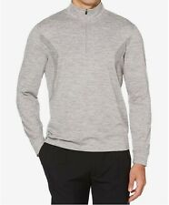 Pga Tour Men's Water Repellent 1/4 Zip Tech Fleece Pullover, Light Gray, Large