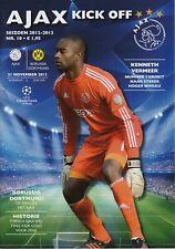 Programm   2012-2013   Ajax Amsterdam v Borussia Dortmund   Champions League
