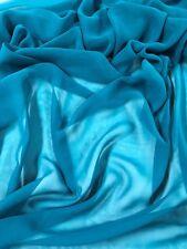"TEAL GREEN Chiffon Fabric 2.50 yds, 44"" WIDE"