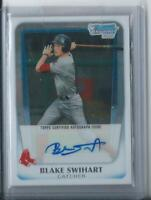 2011 BOWMAN CHROME DRAFT BLAKE SWIHART RC AUTO ROOKIE AUTOGRAPH RED SOX