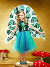 Pretty Peacock Costume for Girls SIZE: 8 (M)
