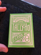 Tally Ho Green Deck Playing Cards - Brand New