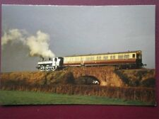 POSTCARD PANNIER LOCO NO 6412 7 AUTO TRAILER NO 178 ACROSS LIDDYMORE BRIDGE  WES