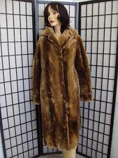 SCRAP SHEARED ARCTIC BEAVER FUR COAT JACKET WOMEN WOMAN SIZE 12 LARGE AS IS