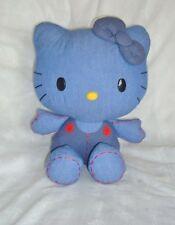 PELUCHE PLUSH Peluche Hello Kitty Sanrio tissus Jean (30x24cm)