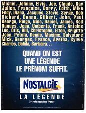"""PUBLICITE ADVERTISING   2002     NOSTALGIE  radio  """" le prénom suffit"""""""