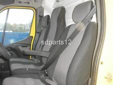 2+1 Luxe Gris-Noir Housse Couvertures Pour Opel Movano 2010+