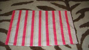 RARE POTTERY BRAN KIDS AIMEE PINK STRIPED SMALL PILLOW CASE DECO