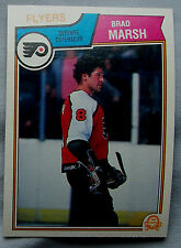 1983-84 OPC o-pee-chee Brad Marsh Flyers lot of 2 Hockey Cards
