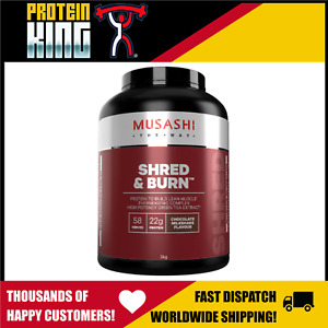 MUSASHI SHRED AND BURN 2KG CHOCOLATE WEIGHT LOSS FAT BURNING PROTEIN POWDER