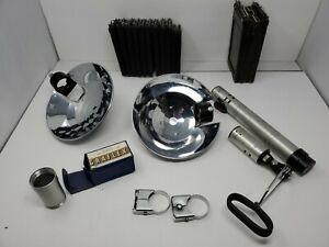"""Lot Of Graflex Camera Flash Accessories / Film Holders 2 1/4"""" x 3 1/4"""" + 4"""" x 5"""""""