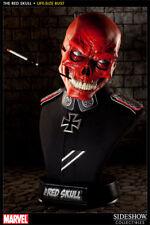Red Skull Life Size Buste Crâne Rouge Marvel Sideshow