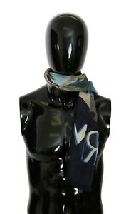 DOLCE & GABBANA Scarf Modal Multicolor Taormina Wrap Shawl 135cm x 130cm $550