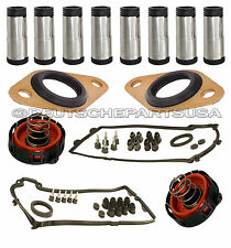 Valve Cover Gasket Gaskets Spark Plug Tubes Crankcase Vent Valve BMW Kit 14pc