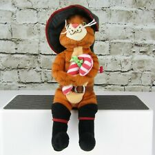 TY Beanie Babies Shrek The Halls Christmas Puss In Boots Candy Cane 2008