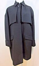 J CREW Collection Double-Cloth Trench Coat Size 4 Black #b1650 $450