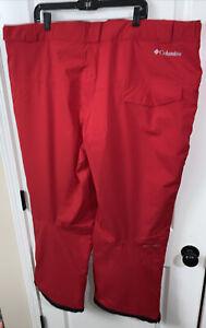 Columbia Men's 3XL Cushman Crest Waterproof Snow Pants Mountain Red NEW Ski