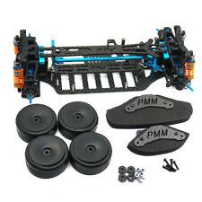 RC 1/10 4WD Plastic & Carbon Touring Car Frame Kit For TT01 TT01E Shaft Drive