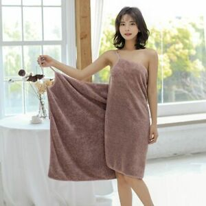 Women Swimming Towel Bath Robe Wearable Towels Microfiber Absorbent Quick Dry