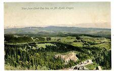 Mt Hood OR - VIEW FROM CLOUD CAP INN - Handcolored Postcard Oregon