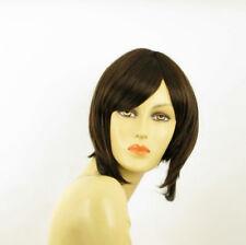 Parrucca donna corta cioccolato mechato rame : ROSE 6H30