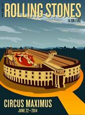 Rolling Stones - 2014 official poster Rome, Italy #2