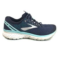 Brooks Ghost 11 Running Shoes Womens Size 8.5 8 1/2 Blue Indigo White Sneakers