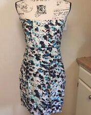 BCBGENERATION  Strapless Dress Multi color Blue White Sz 8 NWT