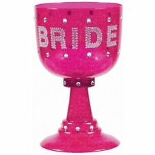 NEW Bachelorette Bridal Gift Hot Pink Bride Goblet Party Cup FREE SHIPPING