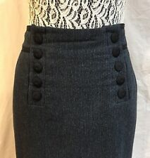 Marc Jacobs Jackie Wool Skirt Hairline Striped Pattern Size 6